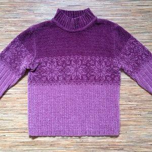 NWOT Sonoma Jean Co Sweater Mauve Fleece Snowflake